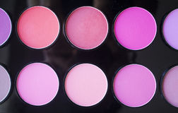 Colorful blush set. Professional cosmetics. stock photography