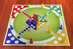 Colorful board for playing traditional children's game Royalty Free Stock Photo