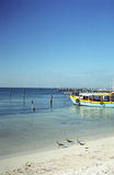 Colorful Boat, Isla Mujeres royalty free stock photo