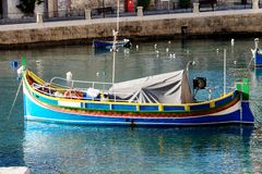 Boat in malta. Colorful boat in malta harbor Royalty Free Stock Image