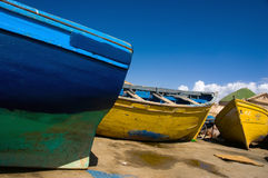 Colorful boats. Colorful fishing boats from port in Essaouira, Morocco Stock Image