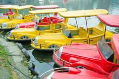 Colorful boats stock photos