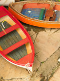 Colorful boats. A top view of typical colourful boats on a sunny day, Italy Stock Photography
