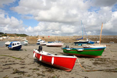Colorful boats in the harbor. Stock Images