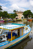Colorful boats Paraty Royalty Free Stock Photos