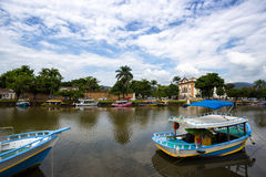 Colorful boats Paraty Stock Images