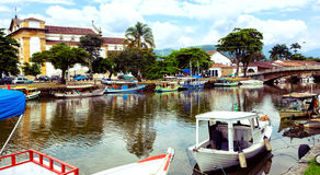 Colorful boats Paraty Royalty Free Stock Photography