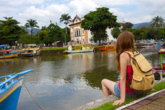 Colorful boats Paraty Royalty Free Stock Image