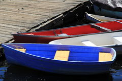 Colorful boats resting at pier Stock Image