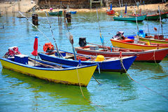 Colorful boats in the sea, Koh Larn at pattaya Stock Image