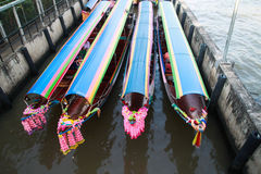 Colorful boats stand by for tourists Royalty Free Stock Photos