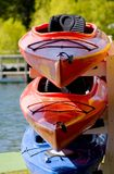 Colorful Boats on a Trailer. Stock Photography