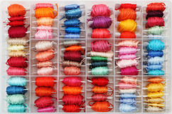 Colorful bobbins Royalty Free Stock Photography