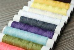 Colorful bobbins Stock Photo