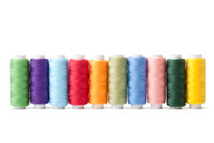 Colorful bobbins Royalty Free Stock Images