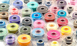 Colorful bobbins. For background use royalty free stock image