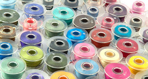 Colorful bobbins. For background use royalty free stock photo