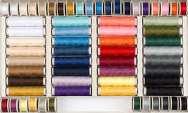 Colorful bobbins of thread Royalty Free Stock Photography