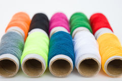 Colorful bobbins Stock Images