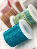 Colorful bobbins Stock Image