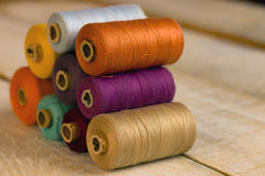 Colorful bobbins Stock Photos