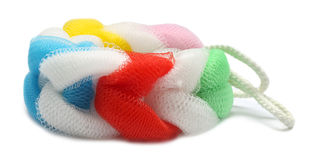 Colorful body scrubber Royalty Free Stock Images