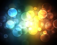 Colorful Bokeh. Abstract colors with bokeh and circles Stock Photos