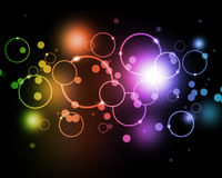 Colorful Bokeh. Abstract colors with bokeh and circles Stock Photography