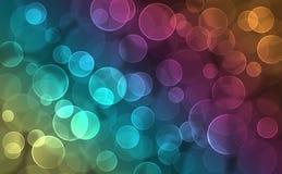 Colorful Bokeh. Colorful spots bokeh on a dark background Royalty Free Stock Photo