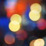 Colorful bokeh abstract background, light defocused Royalty Free Stock Images