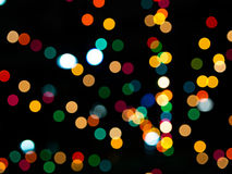 Colorful bokeh. Abstract colorful bokeh on black background Royalty Free Stock Photo