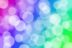 Colorful bokeh abstract light background Stock Photos