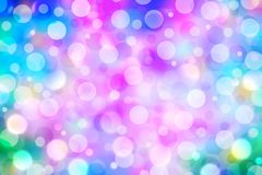 Colorful bokeh abstract sparkle light glitter  background Stock Photos