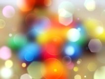 Colorful bokeh Stock Photography