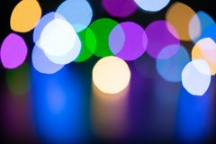 Colorful bokeh for background stock image