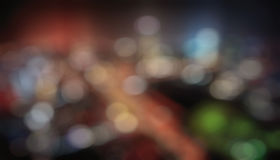 Colorful bokeh background. DEfocused lights of different colors Stock Photography