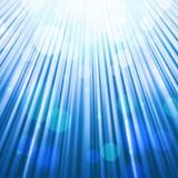 Colorful Bokeh Background. Festive sun rays background of blue color with bokeh defocused lights. Vector eps10 Royalty Free Stock Photos