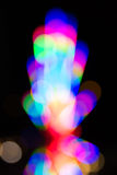 Colorful bokeh background,  fluorescent lights Stock Photo