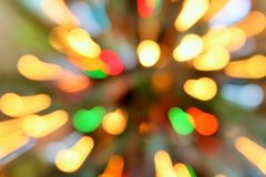 COLORFUL BOKEH BACKGROUND. Colorful out of focus bokeh lights Royalty Free Stock Images