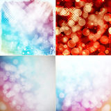 Colorful bokeh backgrounds Royalty Free Stock Photos
