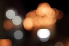Colorful bokeh. With black isolated background Royalty Free Stock Images