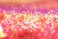 Colorful of bokeh blue light blurred stock photo