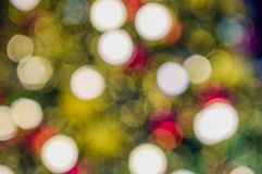 Colorful bokeh Christmas background royalty free stock photo