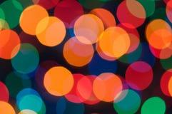 Colorful bokeh of christmas lights Royalty Free Stock Image