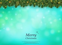 Colorful bokeh of Christmas tree with golden glitters pattern de vector illustration