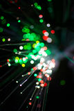 Colorful bokeh circle light celebrate at night, defocus light abstract green background. Stock Photo