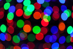Colorful bokeh circles defocused lights Stock Image