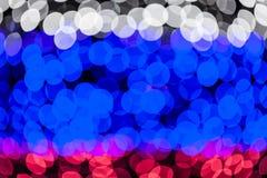 Colorful bokeh circles defocused lights Stock Photos