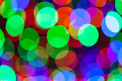 Colorful bokeh circles defocused lights Royalty Free Stock Photos