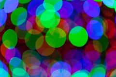 Colorful bokeh circles defocused lights Royalty Free Stock Photo